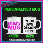 MUMS MUG PINK HEART MOTHERS DAY NOVELTY GIFT MUG